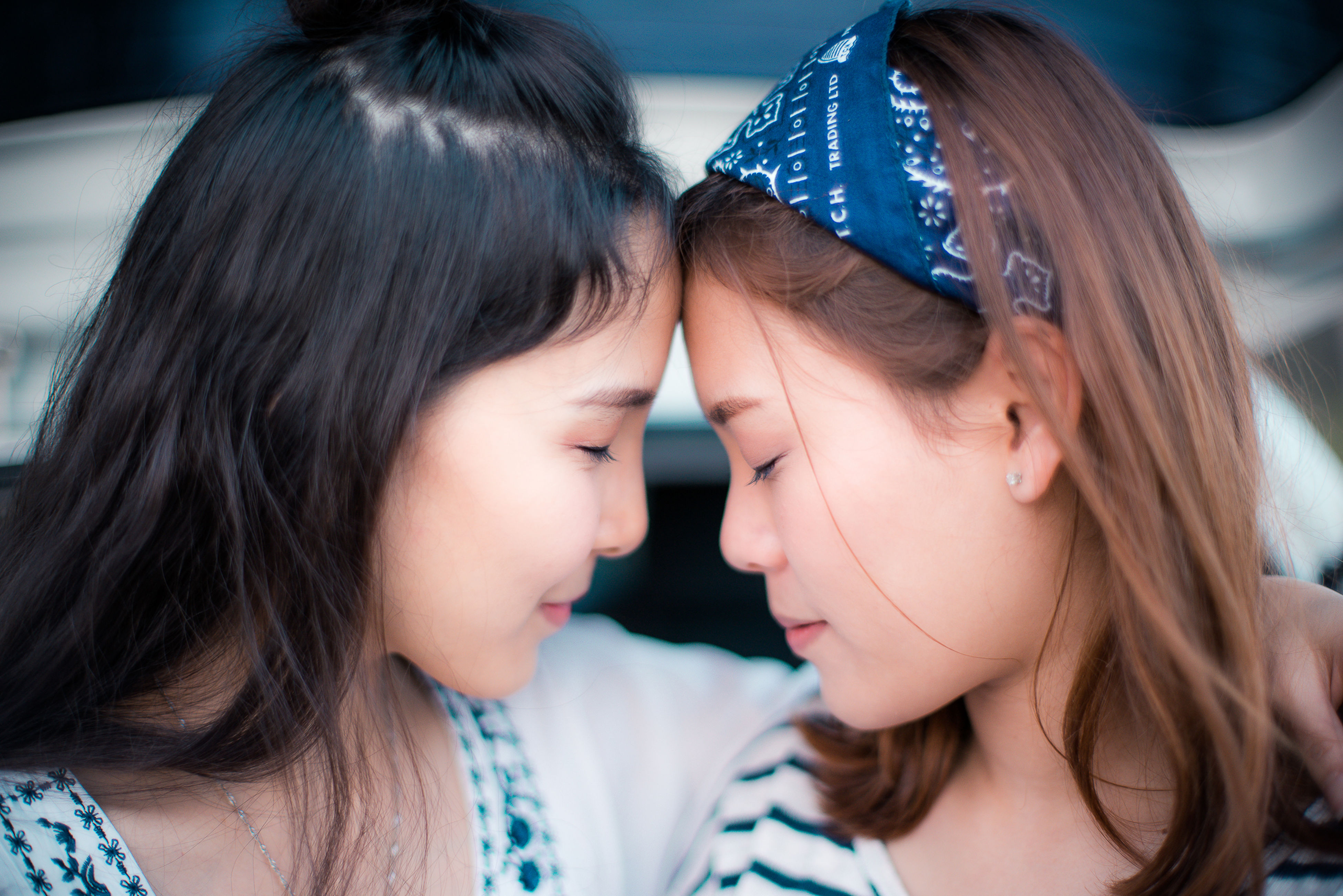 two people, togetherness, child, teenager, girls, females, family, people, friendship, childhood, adult, real people, young women, young adult, indoors, close-up, day