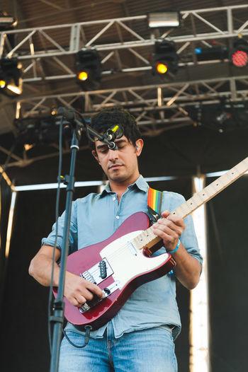 Casual Clothing Festival Festival Season Focus On Foreground Granada Guitarist Holding Illuminated Leisure Activity Lifestyles Looking Manel Person Railing