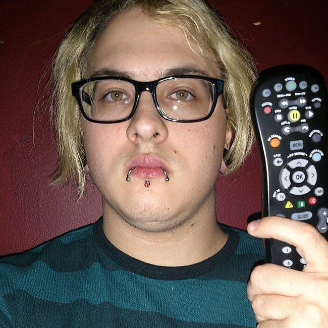 I have a remote and a serious expression. Is it awesome? I don't know. Guy Tflers Brony Piercing Stretchedlobes Labret Wayfarers Blonde Plugs Snakebites Cbr Captivebeadring Emo Stretchedears Mlp Fim Follow Followme Otaku Kik Me Cute Gauges Guyswithplugs Guyswithstretchedears bodyjewelry evantelico audiencekiller eldritchshy akevantelico91