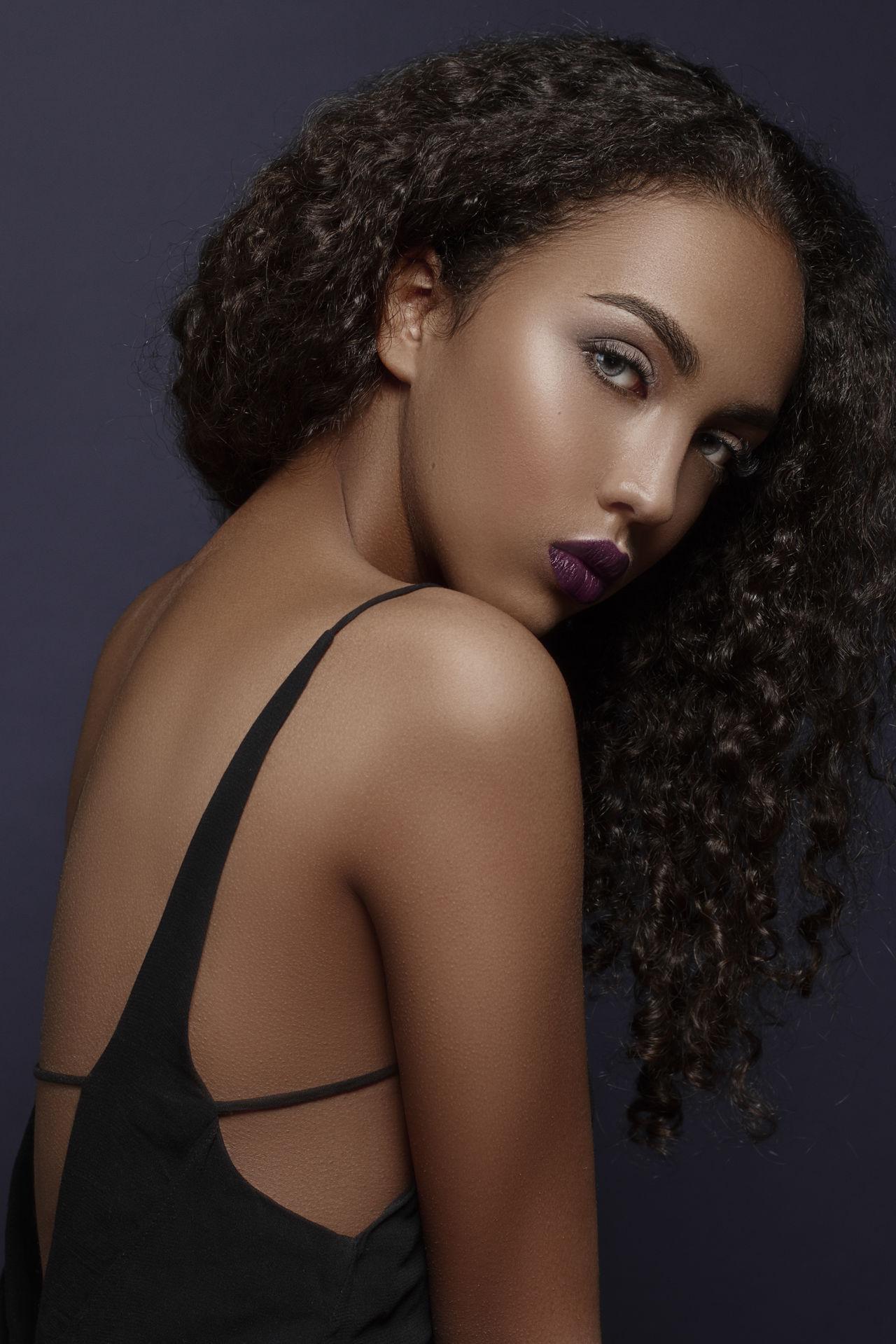 Beautiful stock photos of lippen, studio shot, portrait, beautiful woman, beauty