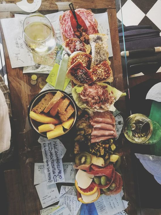 Food And Drink High Angle View Food Freshness Healthy Eating Still Life Table Directly Above Variation No People IndooI Italian Food Prosciutto Italy Italian Restaurant