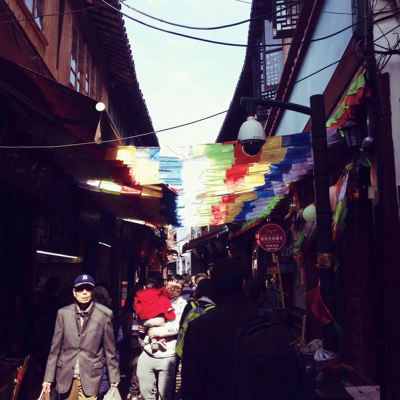 Hanging Multi Colored Store Market Colors Light And Shadow Zhujiajiao Shanghai China