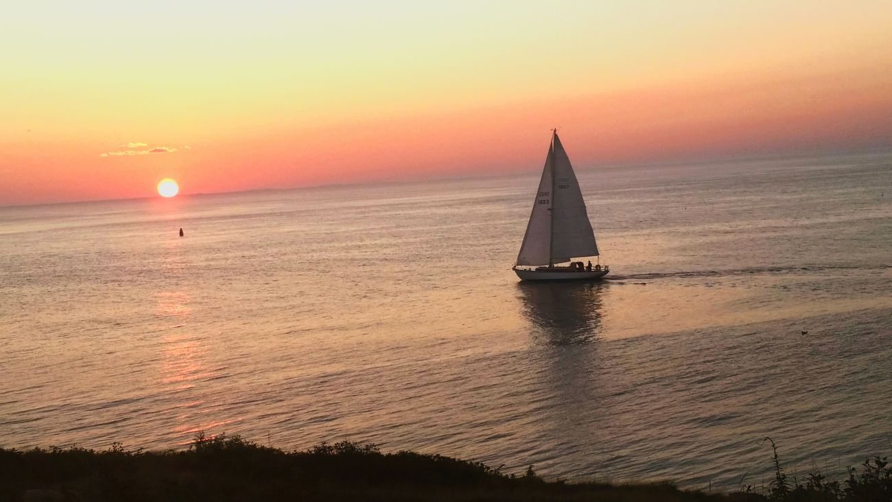 Sunset Ocean Newhampshire Starisland Sail Boat NH Seacoast Island
