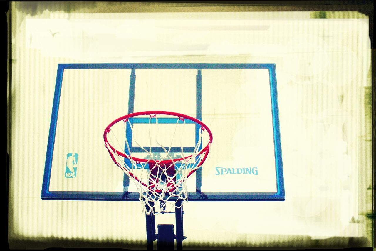 sport, basketball hoop, basketball - sport, basketball, net - sports equipment, day, outdoors, no people, leisure games, court, close-up, competitive sport