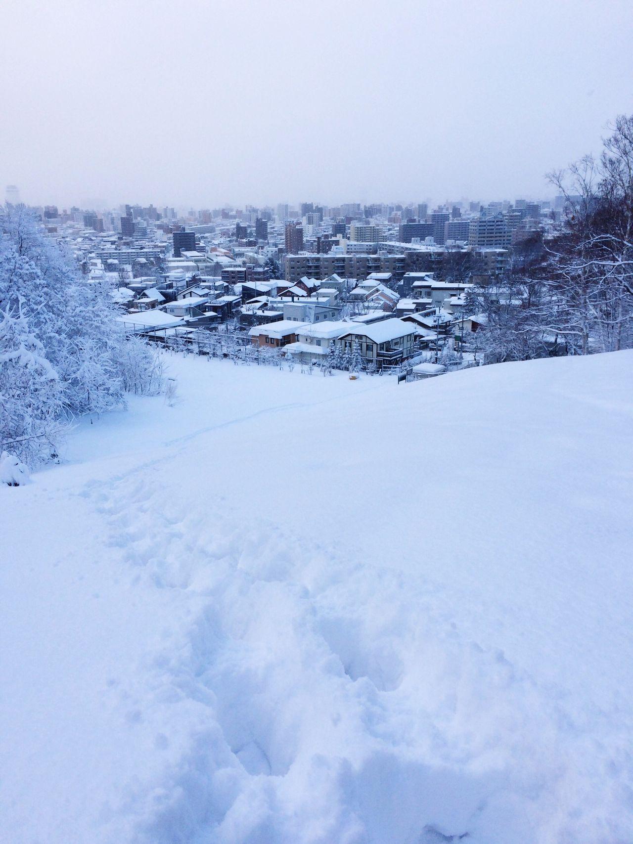 Snow Snow ❄ Park Mountain Hills White Footprints Slope City Winter Sapporo Sapporo-shi Japan Nature EyeEm Nature Lover Eyeemphotography Asahiyama Park Landscape Eyeem Photography It's Cold Outside