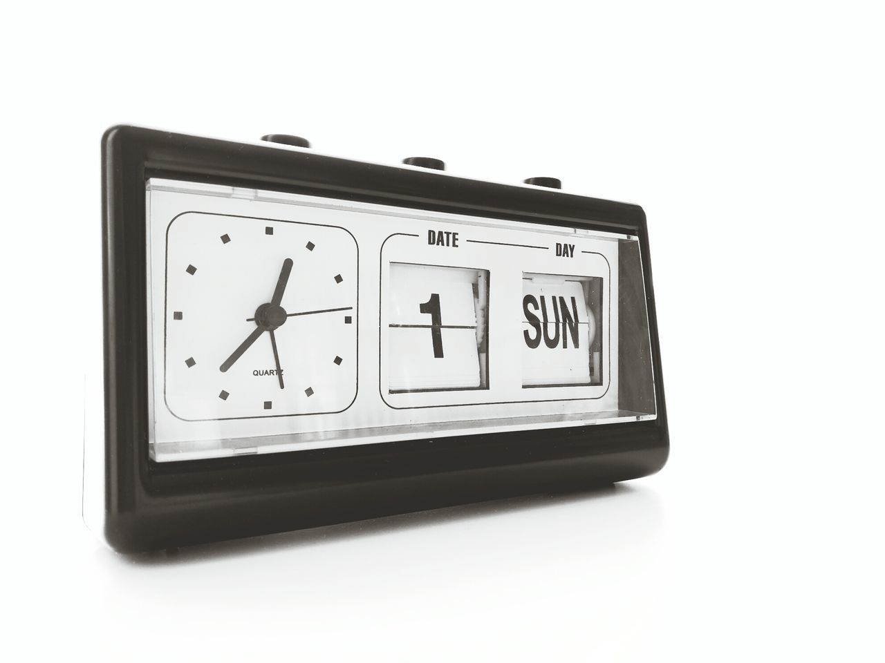 Clock Time Old-fashioned Single Object Alarm Clock Antique White Background Close-up Clock Face Minute Hand Hour Hand Day Times AlarmClock Date Blackandwhite
