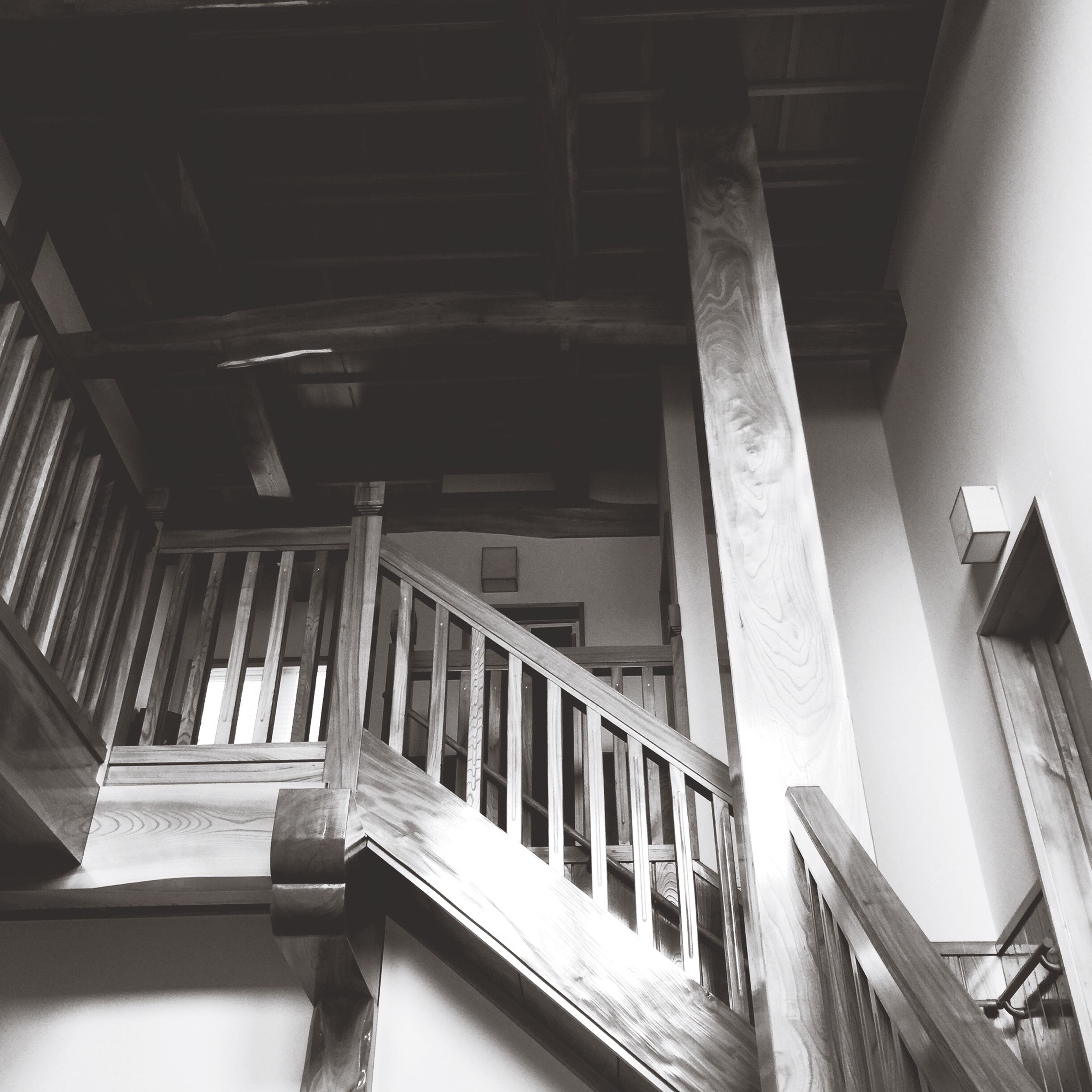 architecture, built structure, low angle view, building exterior, indoors, building, architectural column, staircase, steps, column, old, railing, steps and staircases, no people, window, abandoned, day, ceiling, support