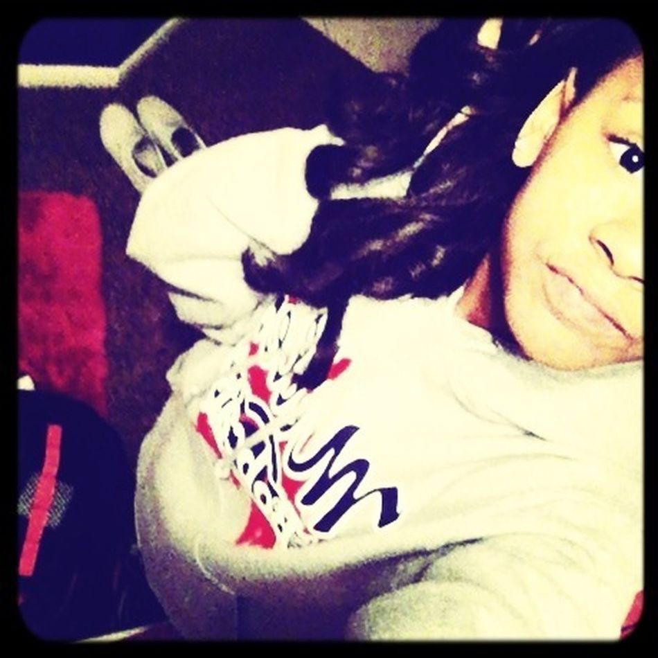 Fresh From Basketball Practice , My New Hoodie Comfy Doee (: