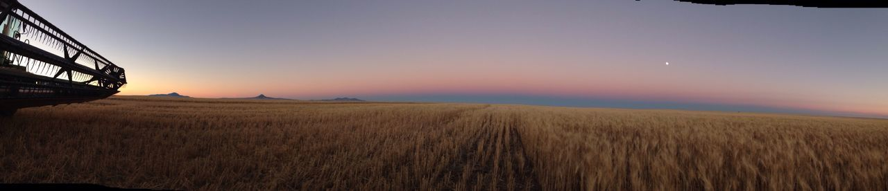 People And Places the end of a harvest day . The Days End Dusky Field Horizon OriginalCreatives Farmlandscape Eyemcaptured Tranquil Scene Multiple Color Oilmont MT Overnight Success
