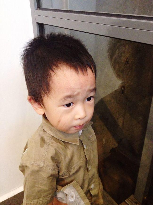 Potrait Little Boy Asian Boy Cute Little Dirty Face. ;)