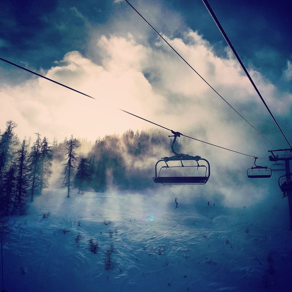 First Eyeem Photo Skiing Serre Chevalier  Snow Clouds And Sky Clouds Art Photography IPhoneography Iphoneonly
