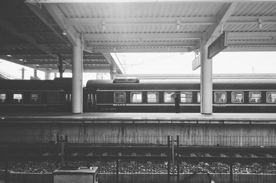 Rail Transportation Transportation Architecture Railroad Station Railroad Station Platform Built Structure No People Indoors  Public Transportation Day Train Station History Blackandwhite Black & White Still Life