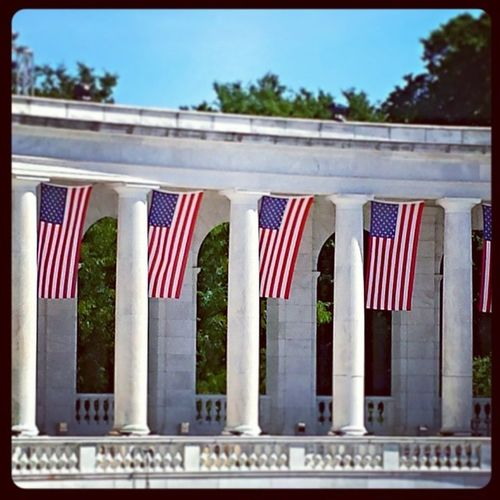 Arlington  DC Ampitheater Flag capitol usa virginia park patriotism