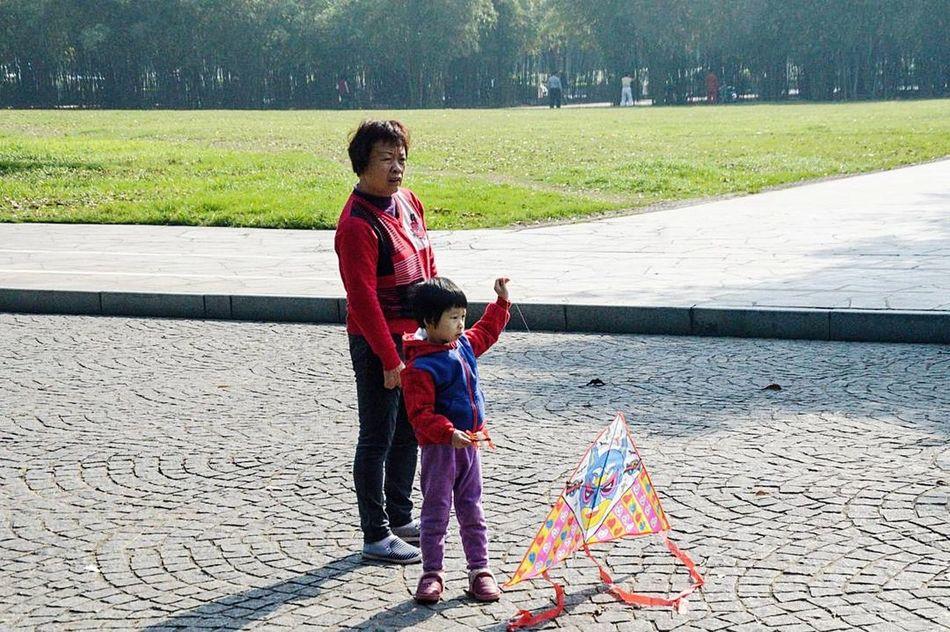 Women Around The World - Grandma and her grand daughter Shenzhen China
