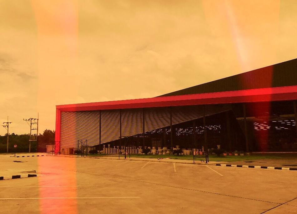 The good designed building Sky Built Structure Sunset Red Architecture Sport No People Building Exterior Stadium Cloud - Sky Outdoors Running Track Modern Track And Field Sports Track Day