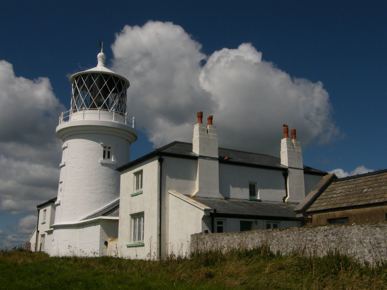 Architecture Building Exterior Caldey Island Caldey Island Lighthouse Cloud - Sky Day Grass Lighthouse No People Outdoors Pembrokeshire Pembrokeshire Coast Sky