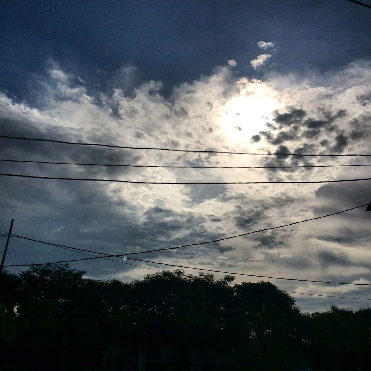 🌇☀🌞 My Year My View Electricity  Power Supply Cable Power Line  Cloud - Sky Silhouette Dramatic Sky Outdoors Tree Nature IPhone IPhoneography Iphonesia Iphonephotography EyeEm Eyeemphoto People Peoplewatching