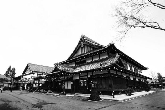 Japanese samurai house. Japan Hokkaido Hokkaido Japan Samurai Village Architecture Nature Sky Snow Spring Winter Outdoors Built Structure Blackandwhite Architecture Day
