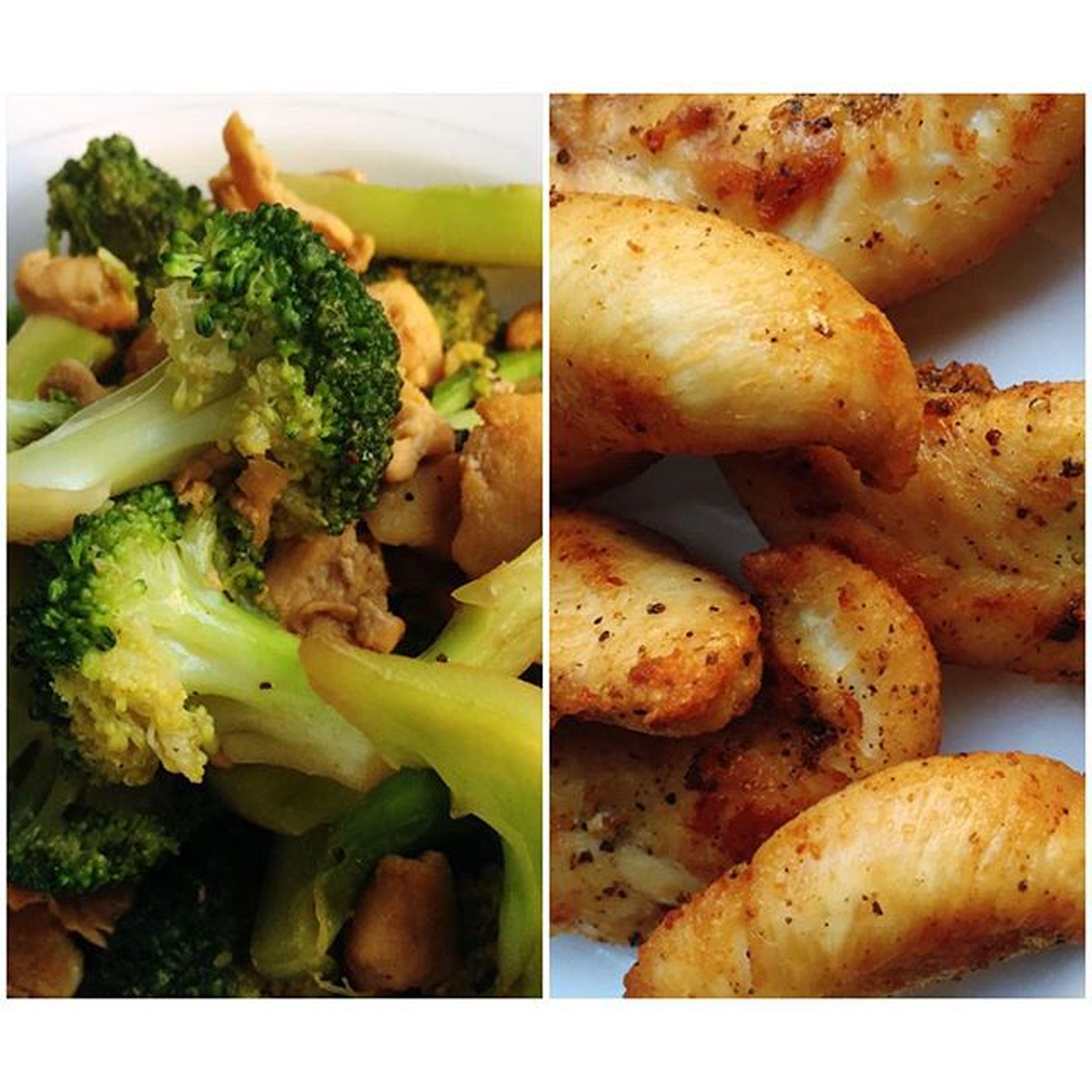 Heavymeal Breakfast Friedchicken Chickenteriyakiwithbroccoli