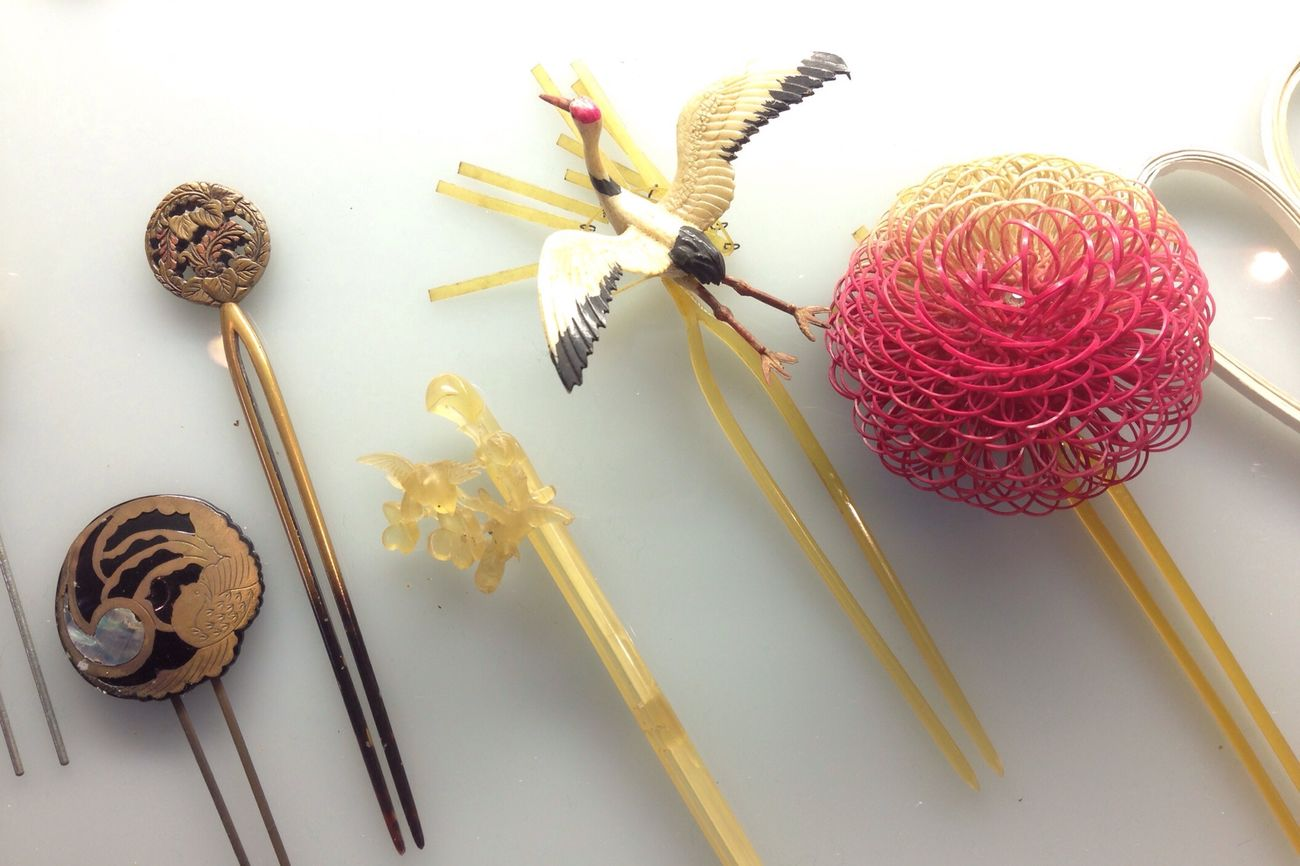 Elegance Everywhere Colorful Fashion Check This Out Japanese traditional hairpins I found in Morioka city , Japan Tohoku