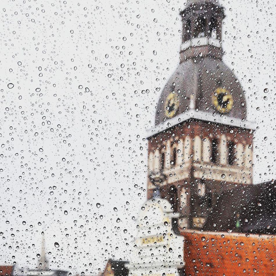 Rainy day in Riga 🌧 Riga Old Town Window View Hotel