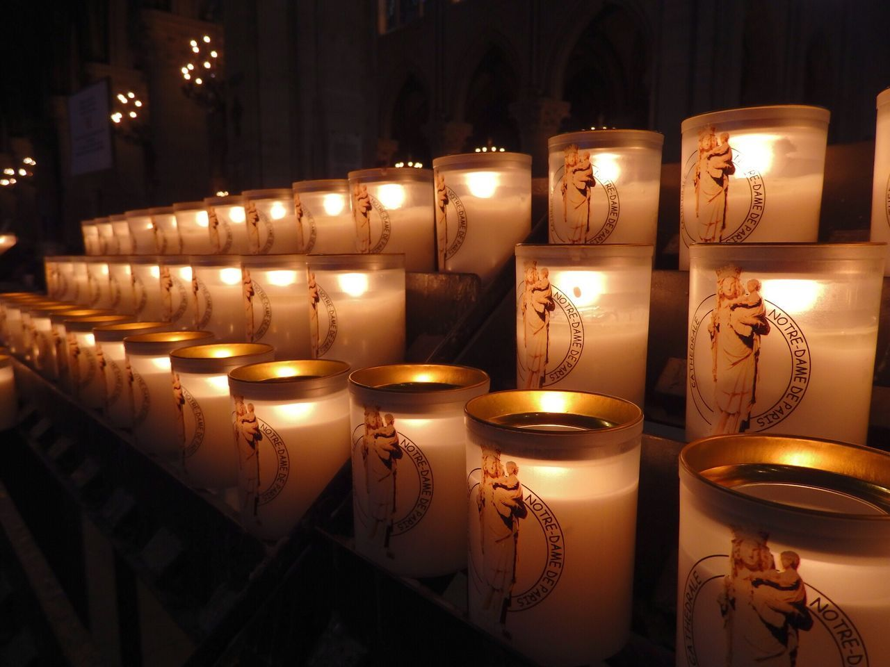 Notre Dame De Paris Candle Light Inside The Notre Dame De Paris Such A Beautiful Place A Must See Place Hello World Enjoying Life Keep Calm And Respectful Paris, France  Europe 43 Golden Moments