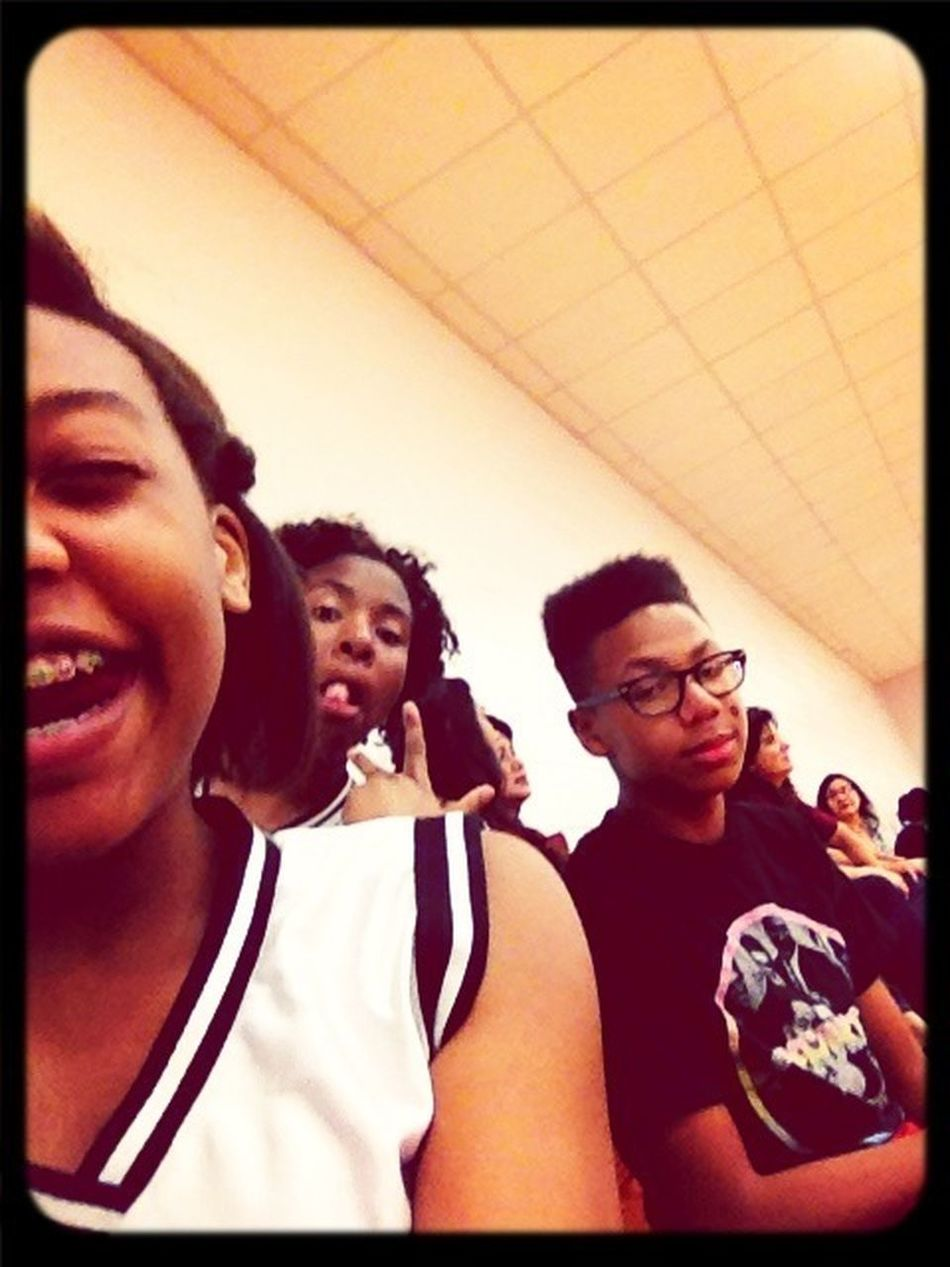Basketball Game With These Two.
