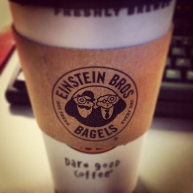 Shoutout to the best coworker who drove just to surprise me with coffee again this morning. Einstienbros Coffeeaddicts