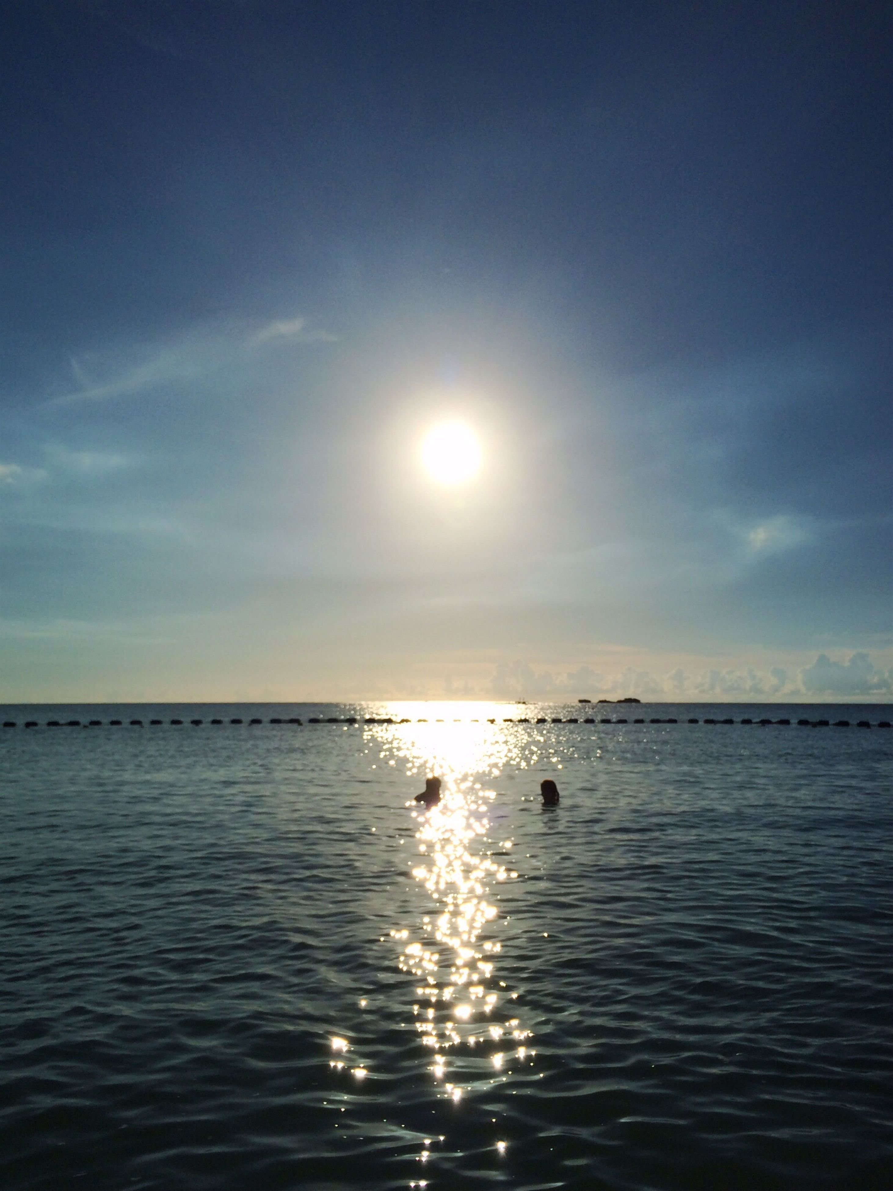 water, sun, sea, tranquil scene, scenics, tranquility, waterfront, reflection, horizon over water, sky, beauty in nature, nature, sunlight, idyllic, rippled, sunbeam, sunset, outdoors, lens flare, blue
