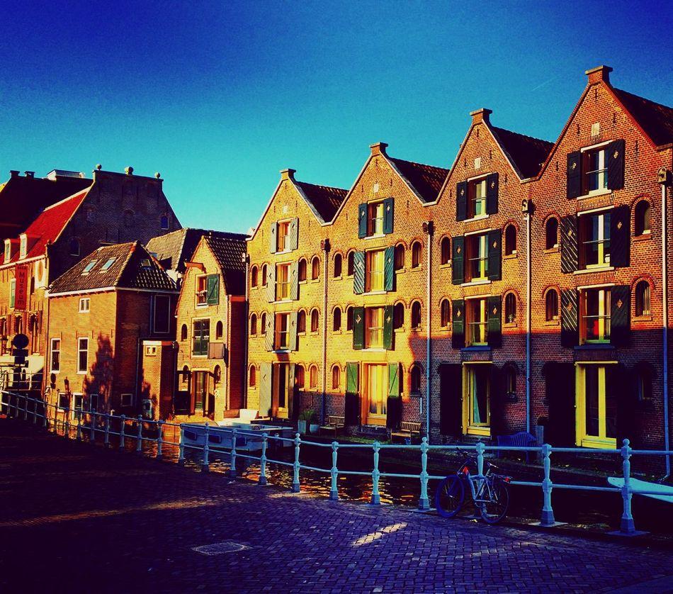 Building Exterior Architecture Dutch Dutch Architecture Alkmaar Clear Sky In A Row Canals Dutch Canals Dutch Houses