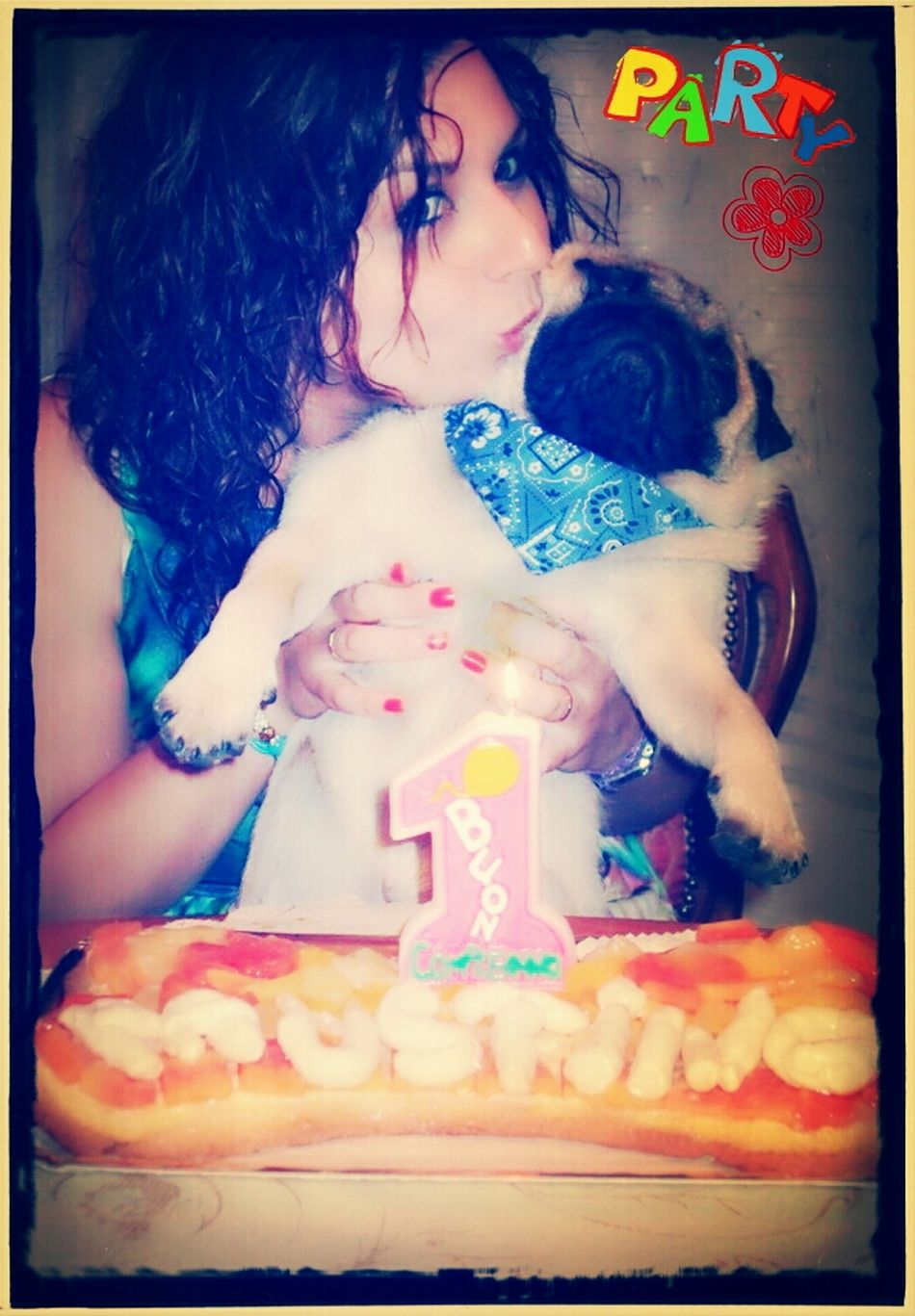 8-13-2013....FAUSTINO's first birthday and the horrible cake made on my own Dog A Dogs Life A Dog Life I Love My Dog