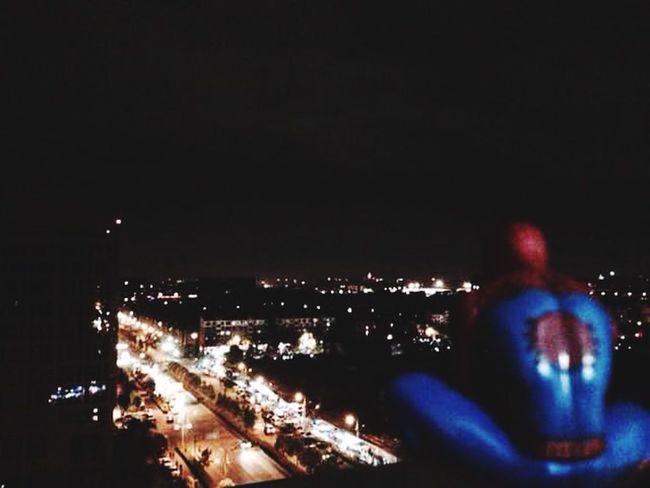 Spiderman Night View Night Lights