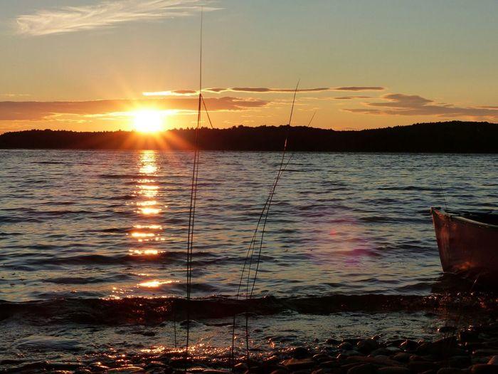 Sunset at Keji's Kejimkujik Sunset Canada Lake Novascotia Kayaking