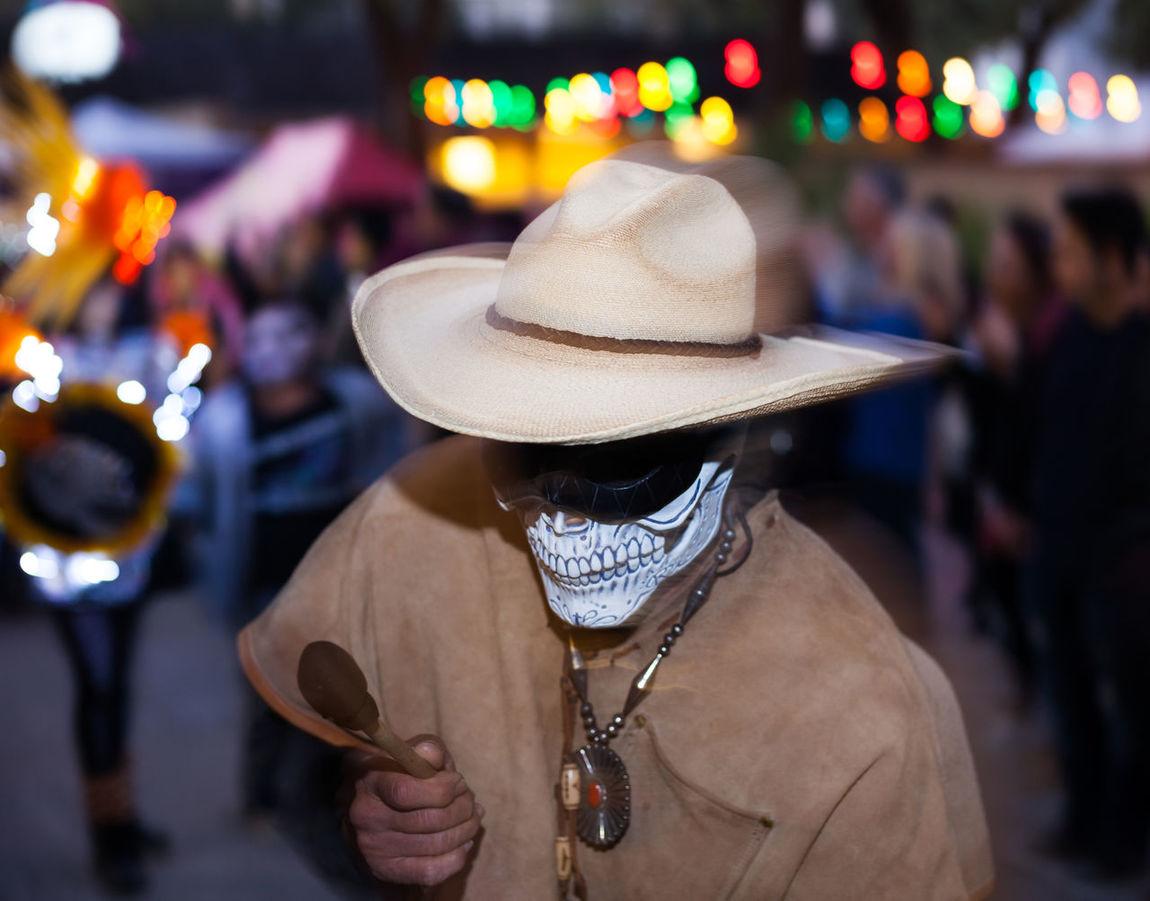 Masked man dancing Dance Dancing Dia De Los Muertos Motion Blur Tradition Cowboy Hat Maracas Masked Man Skull EyeEmNewHere Be. Ready.
