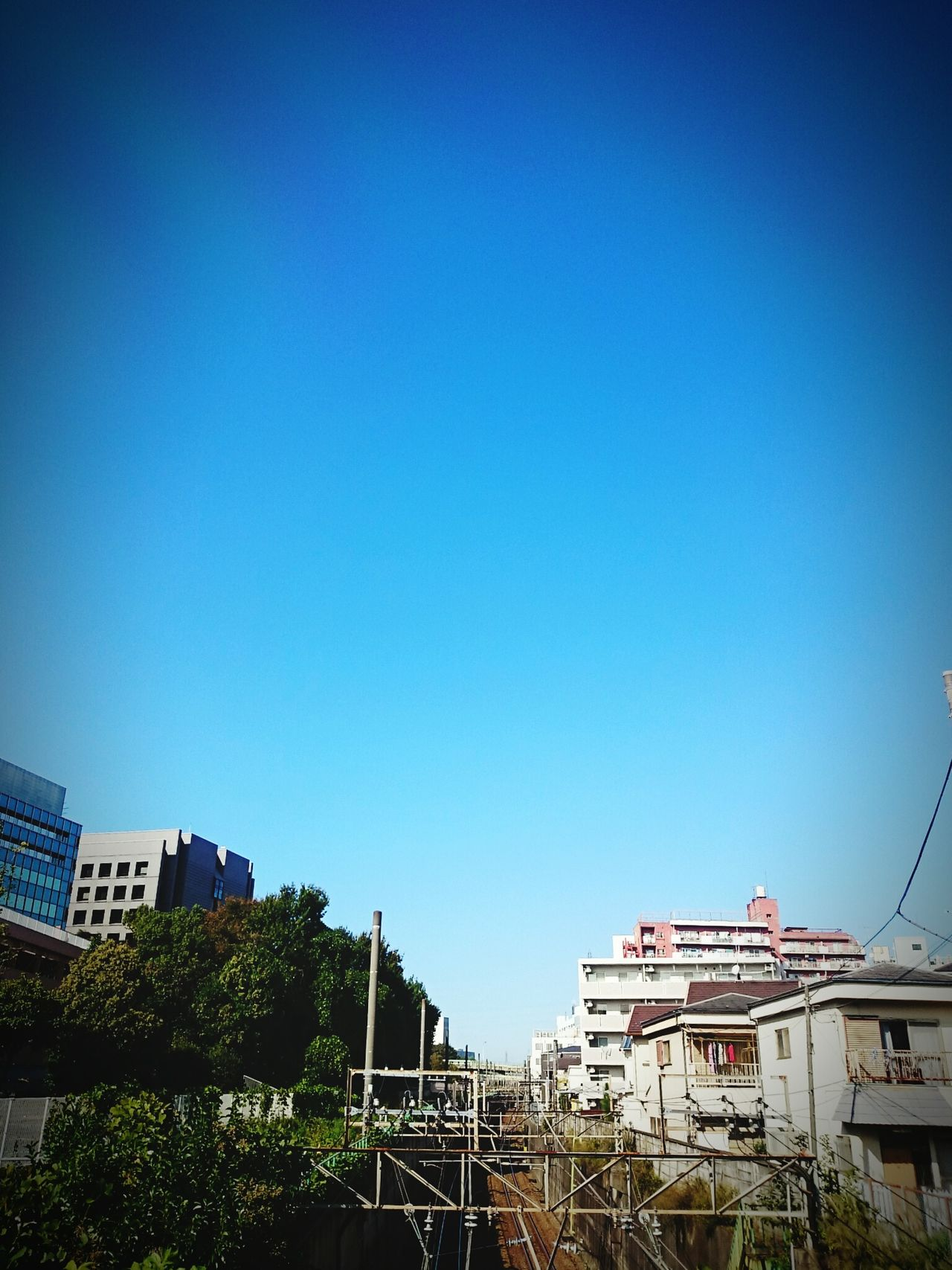 Fine. Japan Photography Japan Scenery Tokyo Tokyo,Japan Sky Blue Clear Sky No People Tokyo Days Andrography Skylovers