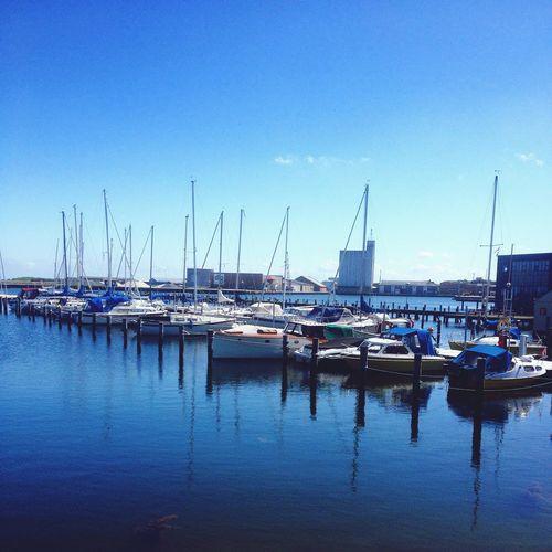 Marina Struer Boats Harbour Ships Water Limfjorden