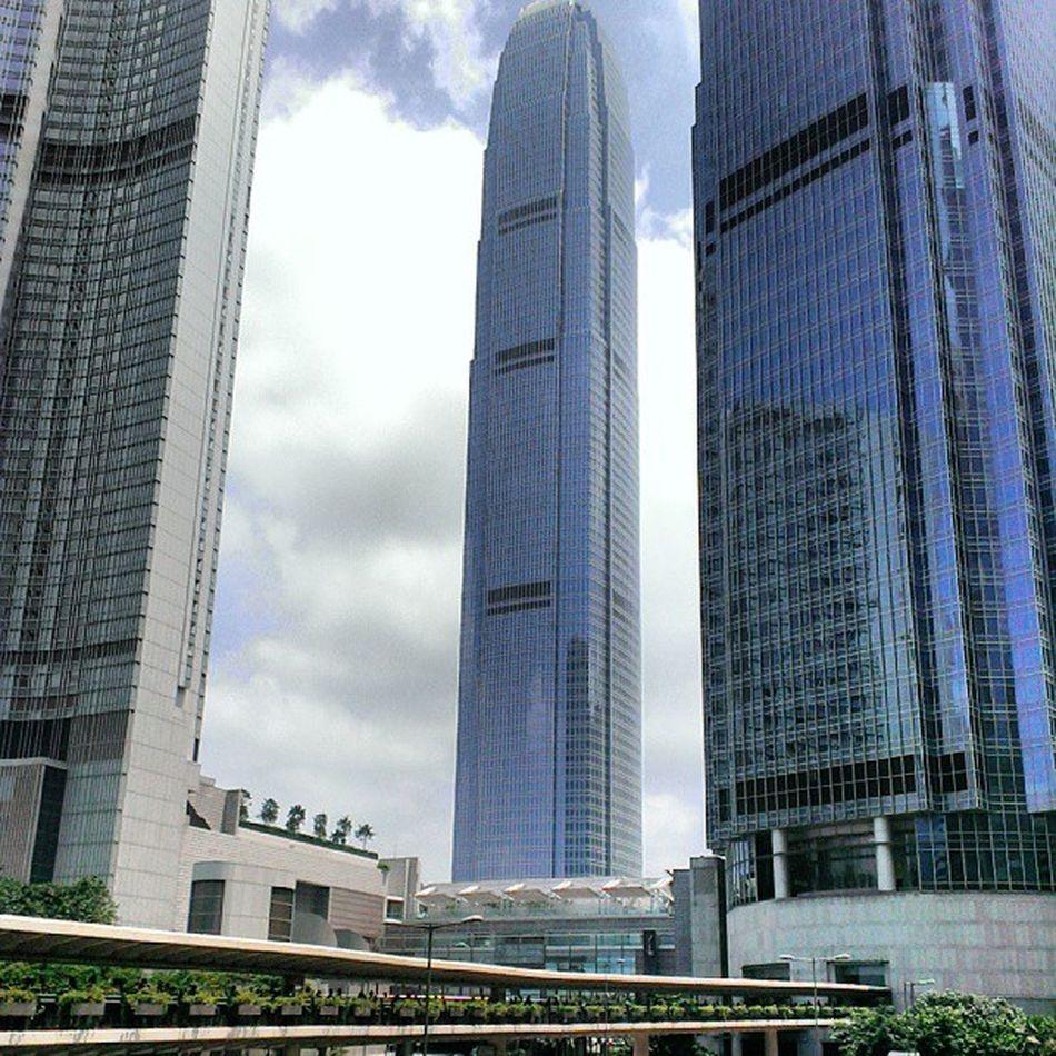Sunny day. IFC the highest building at HK. Localiiz HongKong