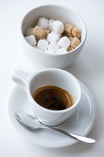 My after-lunch After Lunch Classic Car Espresso Spoon Close-up Coffee - Drink Coffee Cup Drink Food Food And Drink Italian Coffee Italy🇮🇹 Refreshment Studio Shot Sugar Cube White Background White Cup