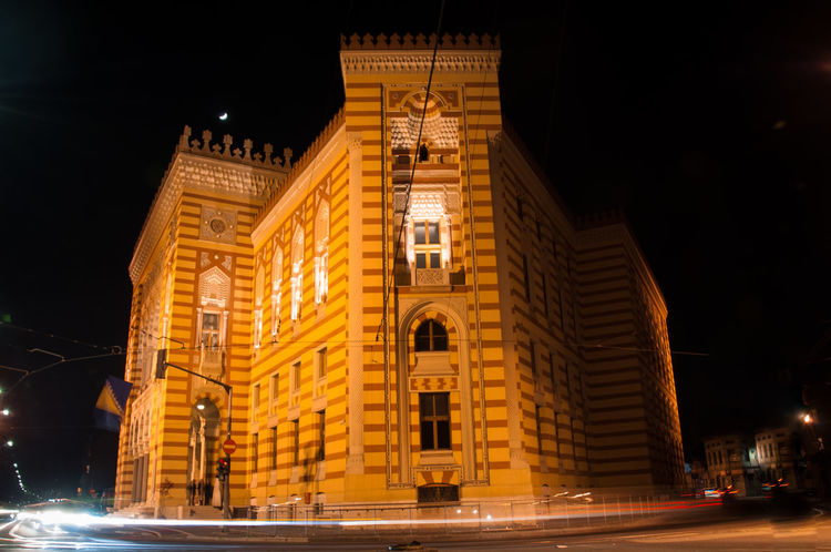 Night Architecture Building Exterior Travel Destinations Outdoors City No People First Eyeem Photo Nationallibrary Library Building Photography Nightphotography Night Lights Night View
