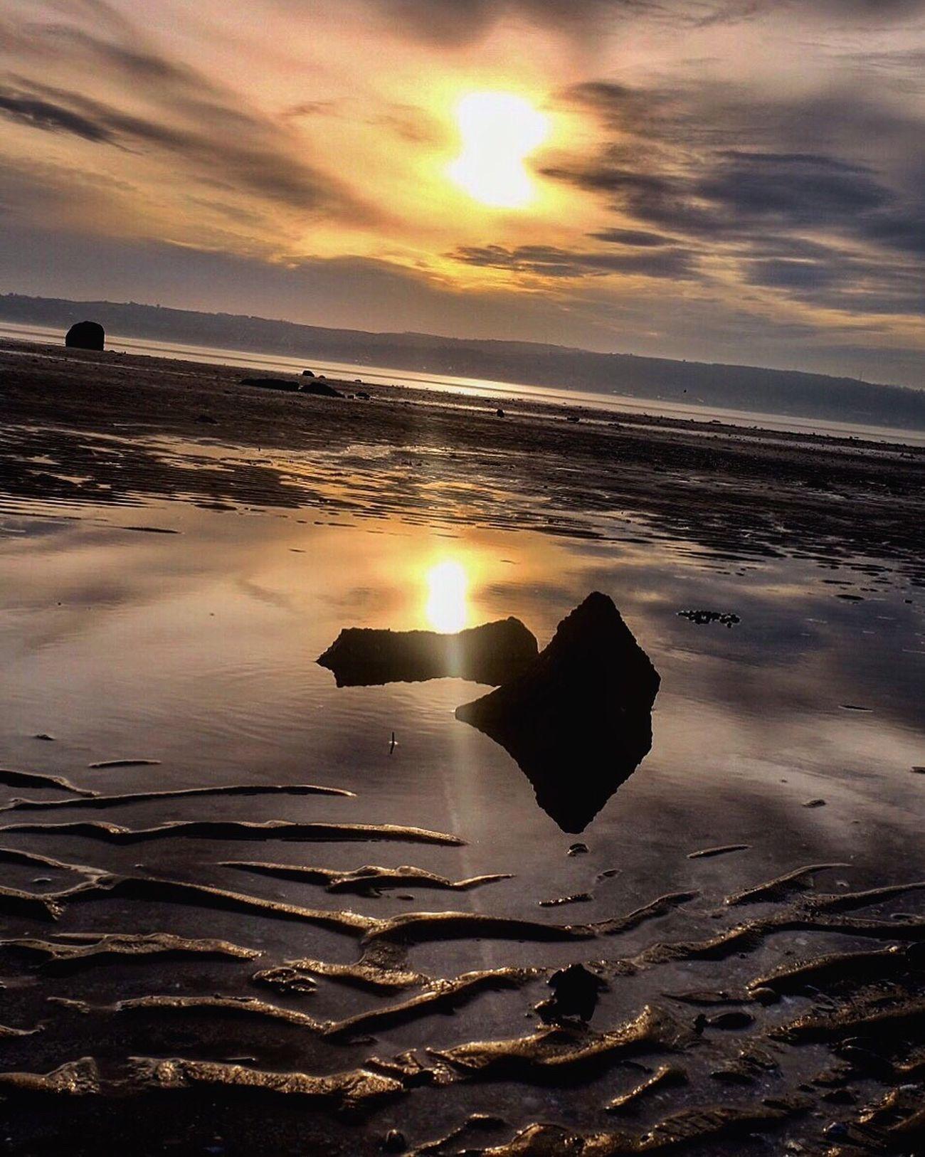Sunset Water Beauty In Nature Nature Sea Scenics Tranquility Sun Beach Tranquil Scene Sky Myfujifilm Fujifilm_xseries Idyllic No People Outdoors Cloud - Sky Horizon Over Water Sand Dramatic Sky Sunbeam