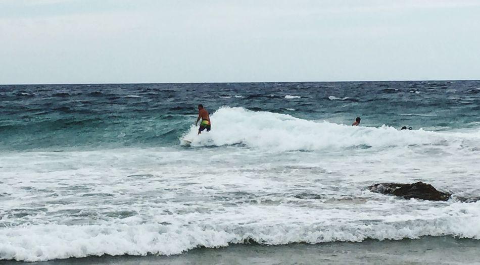 Surfing the slop Gold Coast Rainbow Beach Queensland