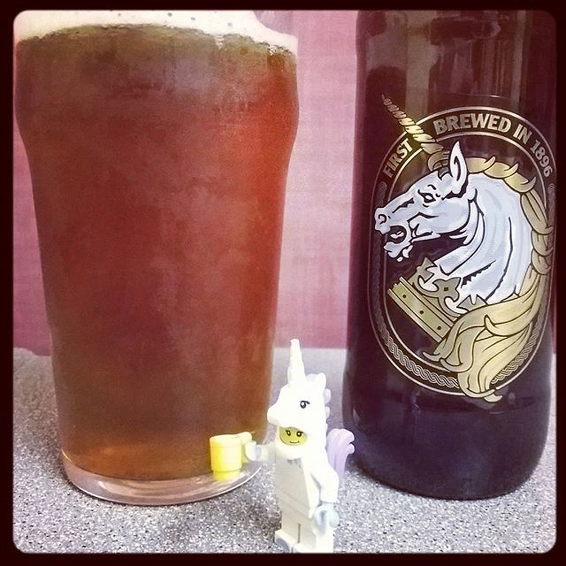 This was just too simple. My choice of beers is definitely influenced by my Lego minifigure collection. Beerandbricks Beerandtoys LEGO Legominifigures Unicorngirl Beerstagram