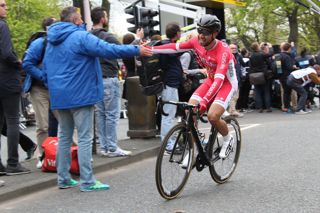 This is the winner of the Tour De Yorkshire 2017 immediately after he finished the race. Bicycle Bicycles Bike Bike Race Blue Coat Coat Harrogate Helmet High Five Nasser Bouhinni Photographer Pro Biker Professional Sport Professionalphotography Relaxing Road Bicycle Road Bike Sport Photographer Sports Clothing Sports Photography Summer Sunglasses Tour De Yorkshire Winter Yorkshire