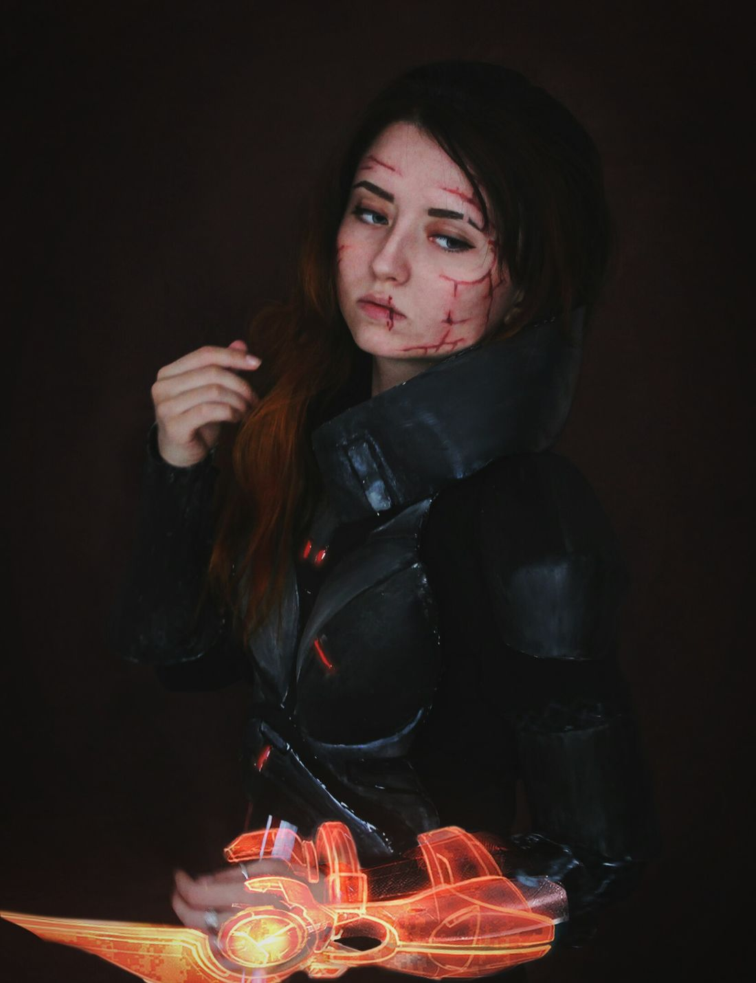 Cosplay Cosplayer Masseffect Masseffect2 MassEffect3 Videogames Photo Life Time Beauty Beautiful Expressions Light Darkness Spacer Young Women Girly Young Adult Scars