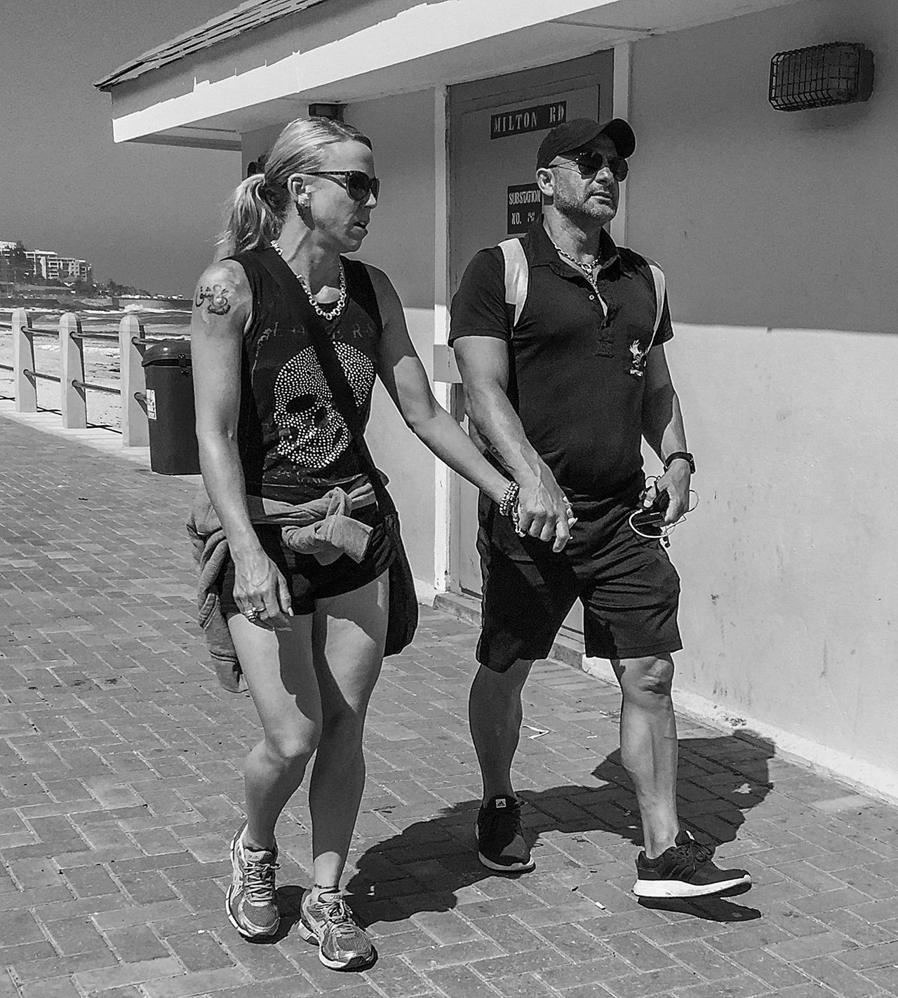 Blackandwhite Candid Candid Photography Couple Front View Full Length Ink Streetphotography Two People Walking