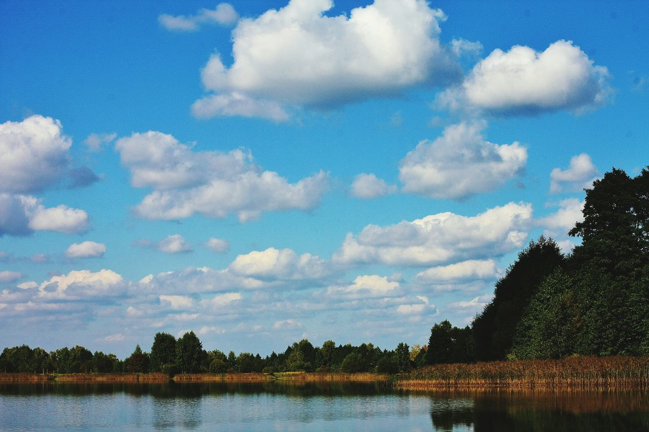 Blue Sky Sky Water Nature Scenics Lake Beauty In Nature No People Day Waterfront 50mm 1.4 Clear Sky RussianBlue