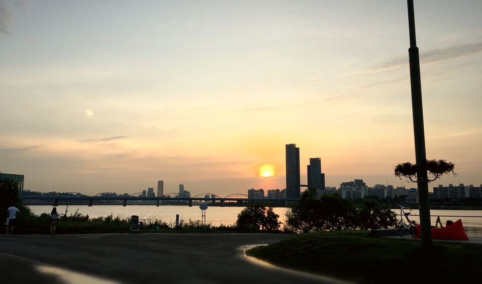 Han River Han River Park Sunset Floating Islands IPhoneography