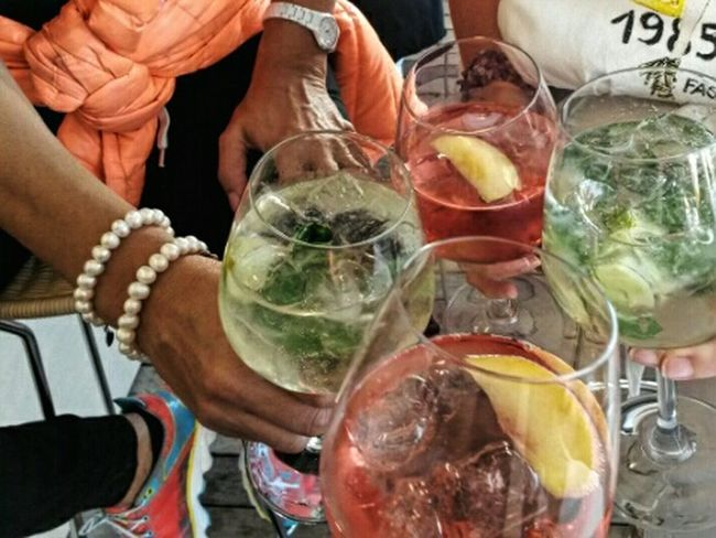 Aperitivo with friends Cocktails Aperitif Aperitivo Time Drinking Relaxing Quality Time Enjoying Life Ice Drinks Spritz Alcoholic Drink Pearls Jewelr
