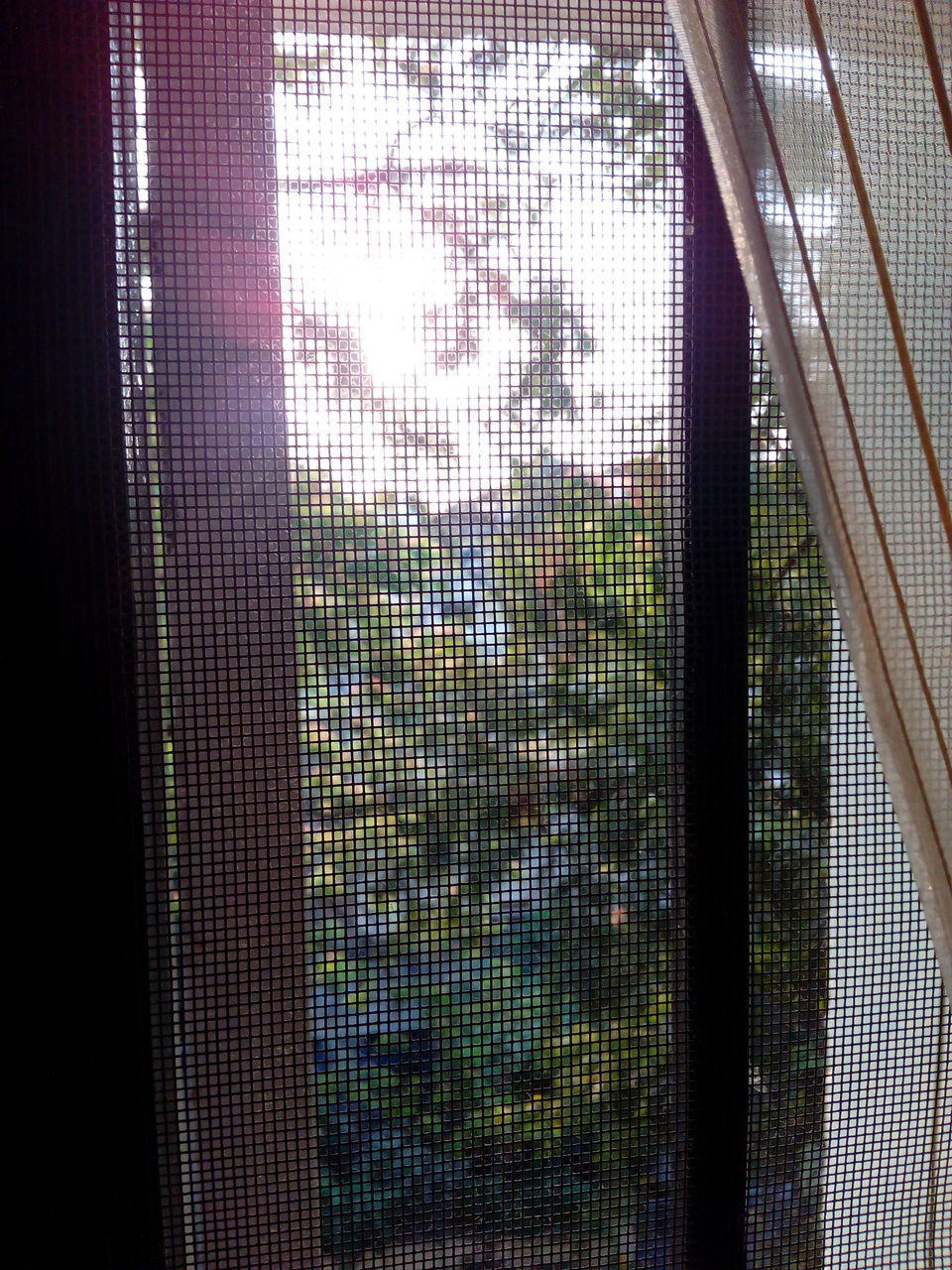 window, indoors, day, pattern, curtain, no people, full frame, multi colored, drapes, close-up
