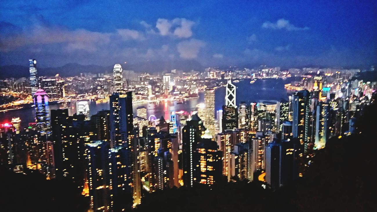 HK,The city which doesn't have true night.HongKong The Peak At The Peak Night Photography Night View Travelling Cityscape
